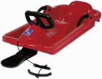 Dětské boby AlpenDrive řiditelné volantem - červené