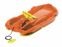 Řiditelné dětské boby AplenSpace oranžové s volantem